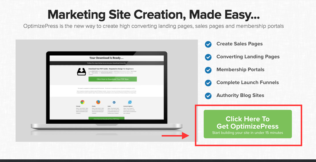 High converting Overlay Optimizer Call-to-action button downloads | Call-to-action button example