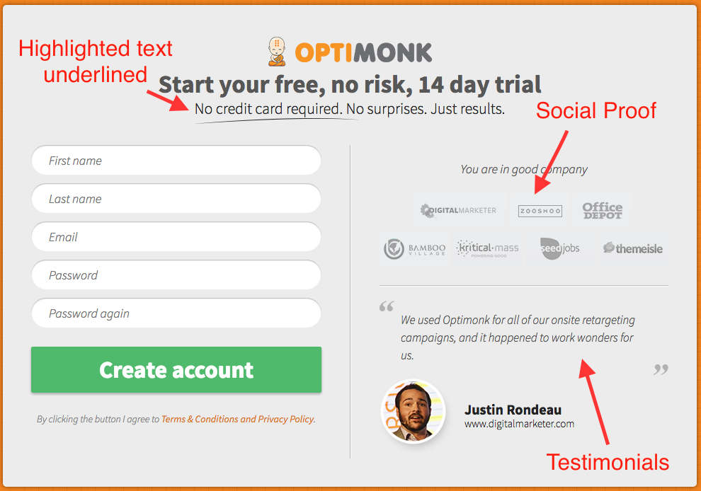 High converting Overlay Optimizer Call-to-action button downloads | OptiMonk Call-to-action button example