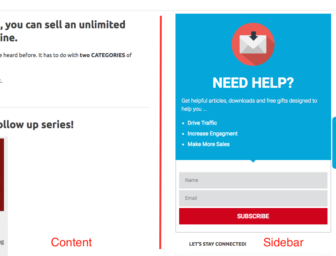High converting Overlay Optimizer Call-to-action button downloads | Charlie Page Sidebar button example