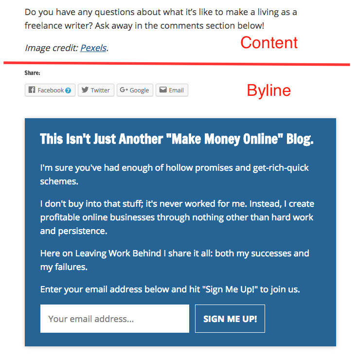 High converting Overlay Optimizer Call-to-action button downloads | Byline call-to-action example